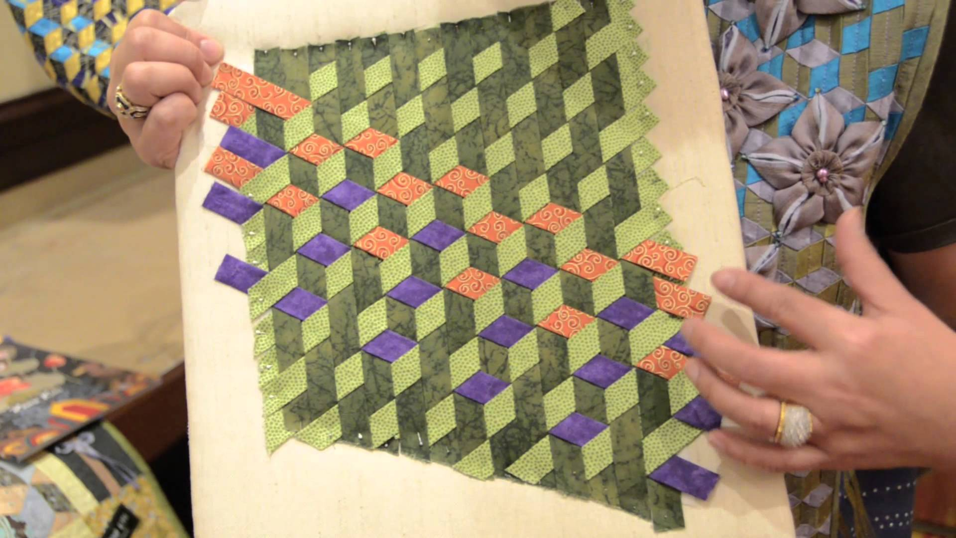 Quilt Patterns Using Strips Of Fabric : This is Quilting? I think So? All I know is it s really FUN! Weaving Fabric Strips! Keeping u ...